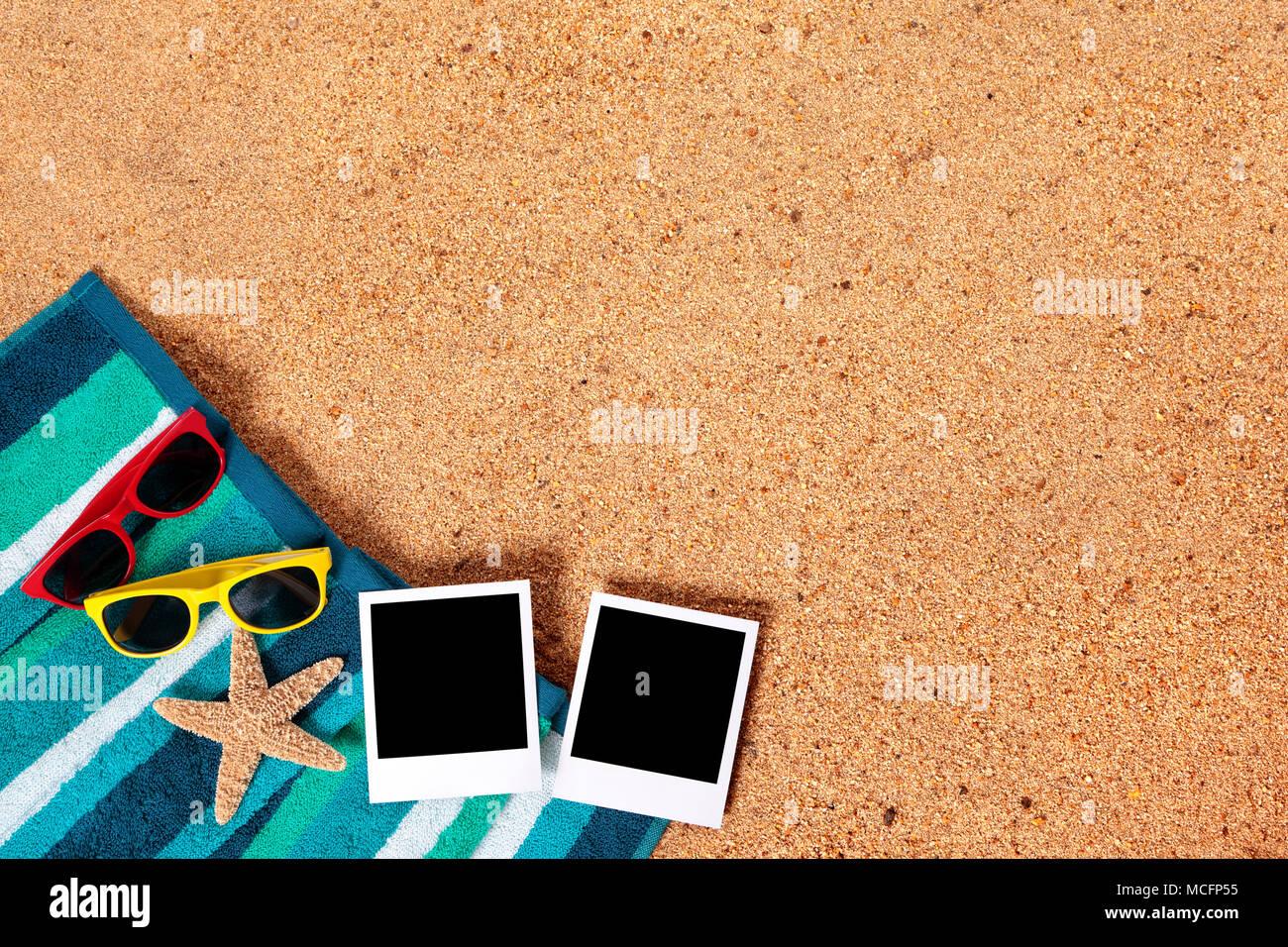 Sommer Urlaub Bilderrahmen Fotorahmen Drucke auf einem Strand ...