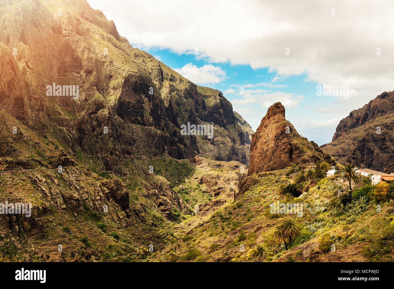 Masca Dorf Teneriffa-Kanarische Inseln-Spanien Stockbild
