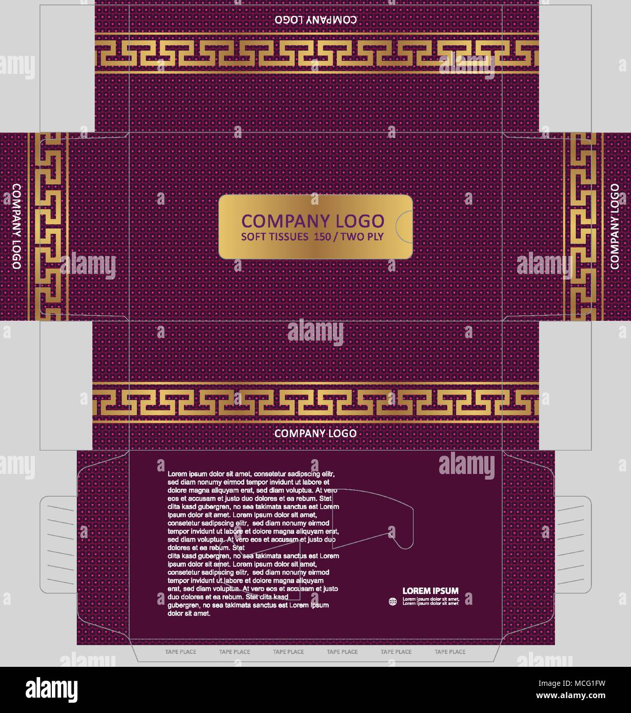 classic golden versace band auf dotierten feld muster tissue box template konzept vorlage fr geschftliche zwecke platzieren sie ihre texte und logos - Versace Muster
