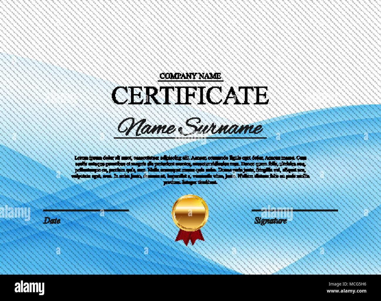 Vector Gold Certificate Template Stockfotos & Vector Gold ...
