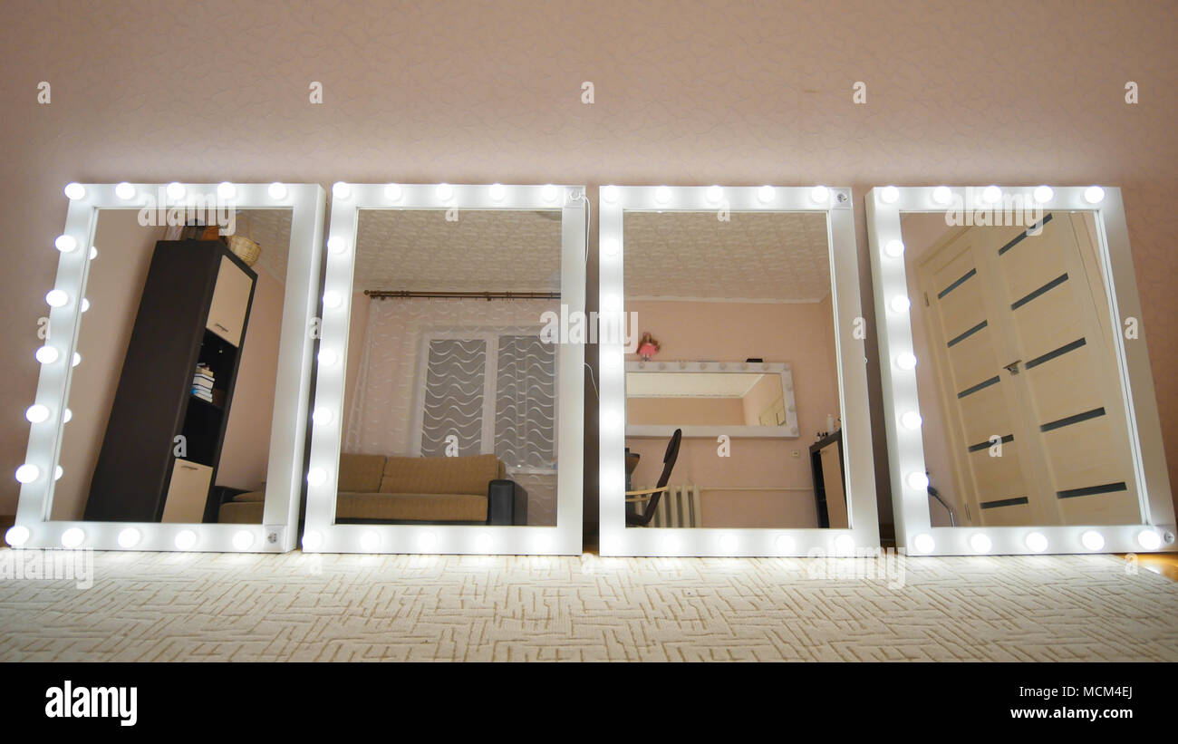 Make Up Spiegel : Make up spiegel im zimmer und leuchten spiegel einschalten