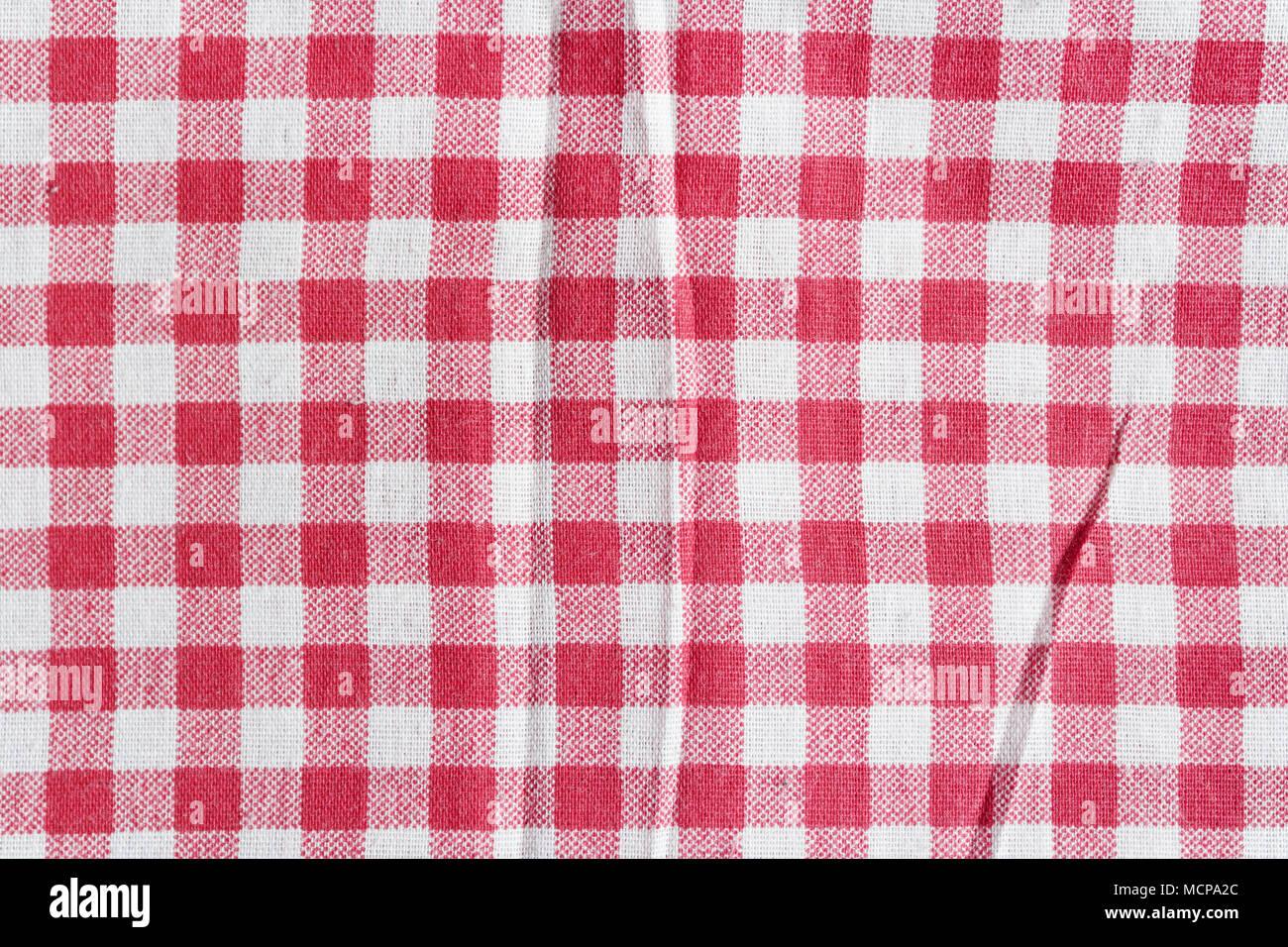 Rote Bettwäsche Picknick Tischdecke Textur Einer Rot Weiß Karierte