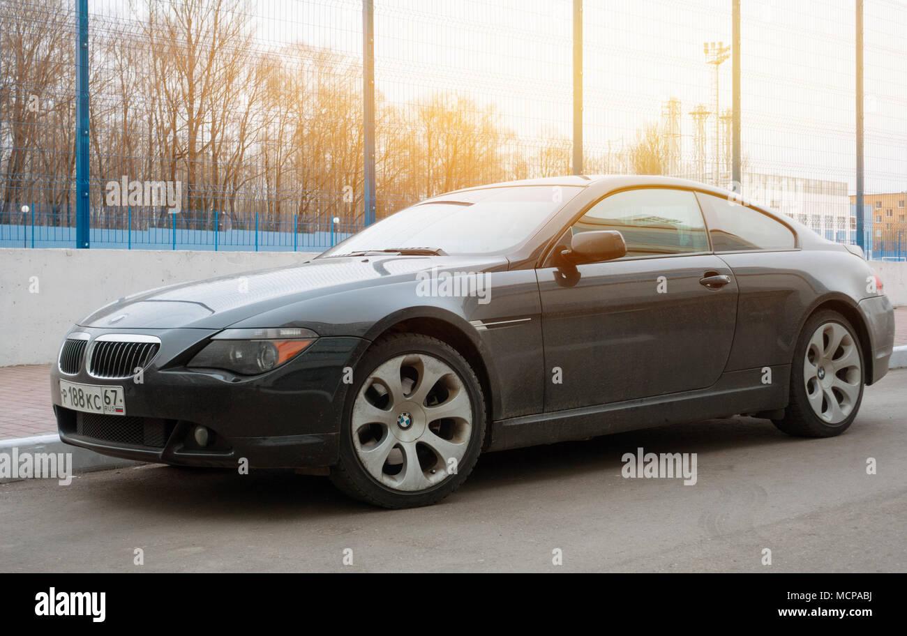 Moskau Russland 25 April 2017 Luxus Bmw 6er Coupe In Der