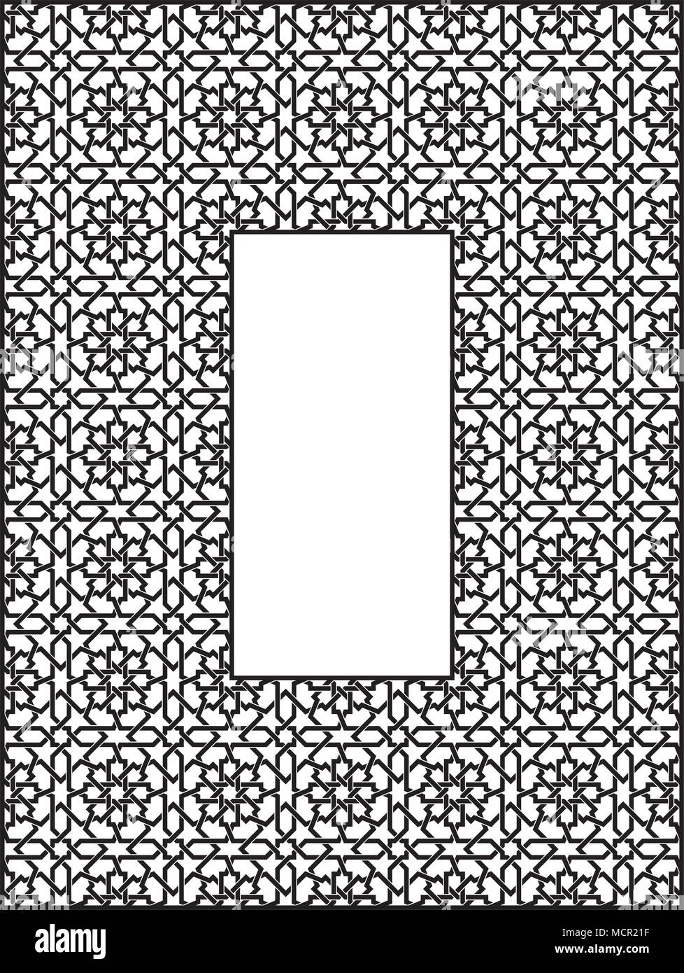 Rechteckiger Rahmen mit traditionellen arabischen Ornament Vektor ...