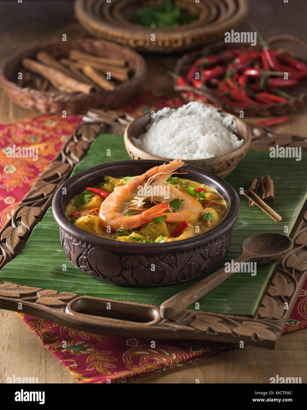 Sri Lankan Prawn Curry. Sri Lanka Essen Stockfoto, Bild: 180023940 ...