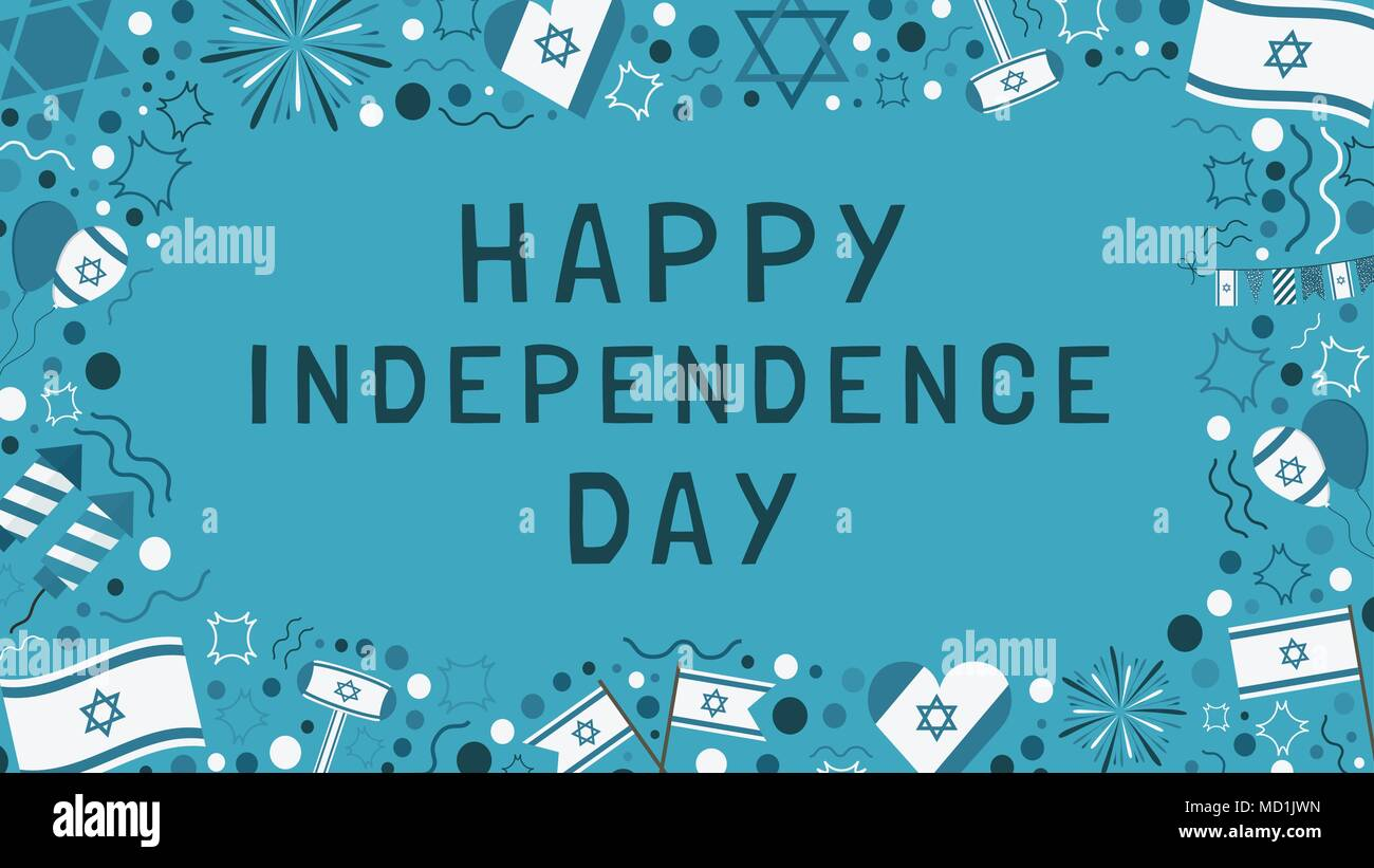 Rahmen mit Israel Tag der Unabhängigkeit Ferienwohnung design ...