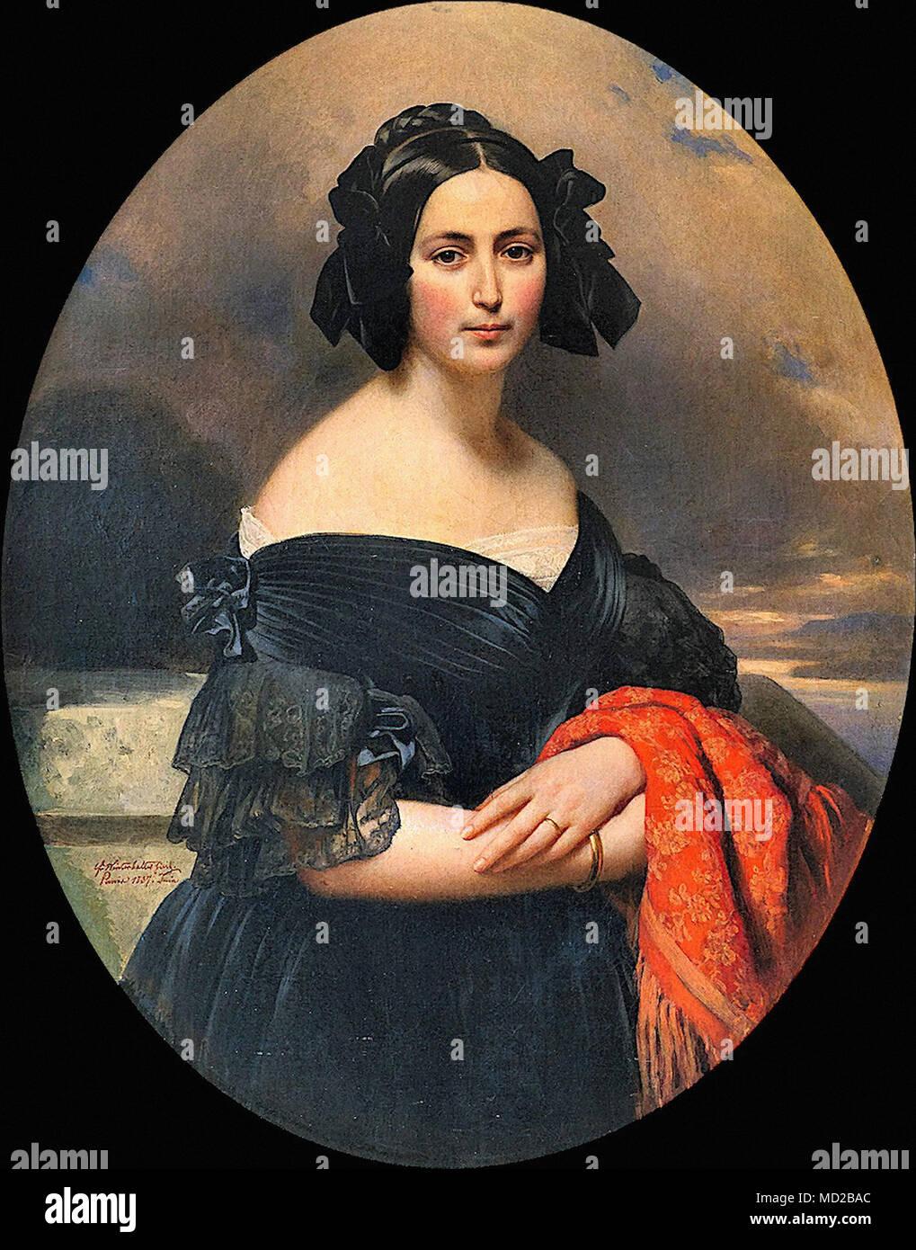 Winterhalter Franz Xaver - Gräfin Marie Jaubert Stockbild