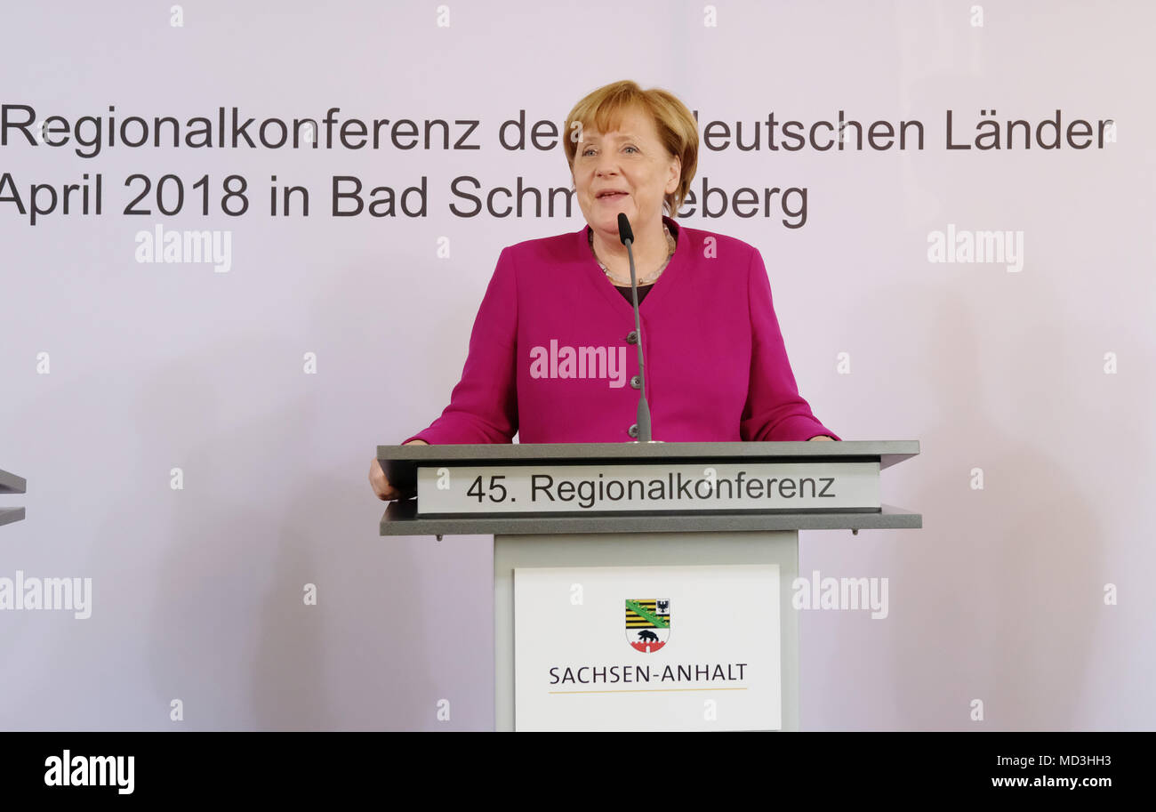 18 April 2018 Deutschland Bad Saarow Die Deutsche Bundeskanzlerin
