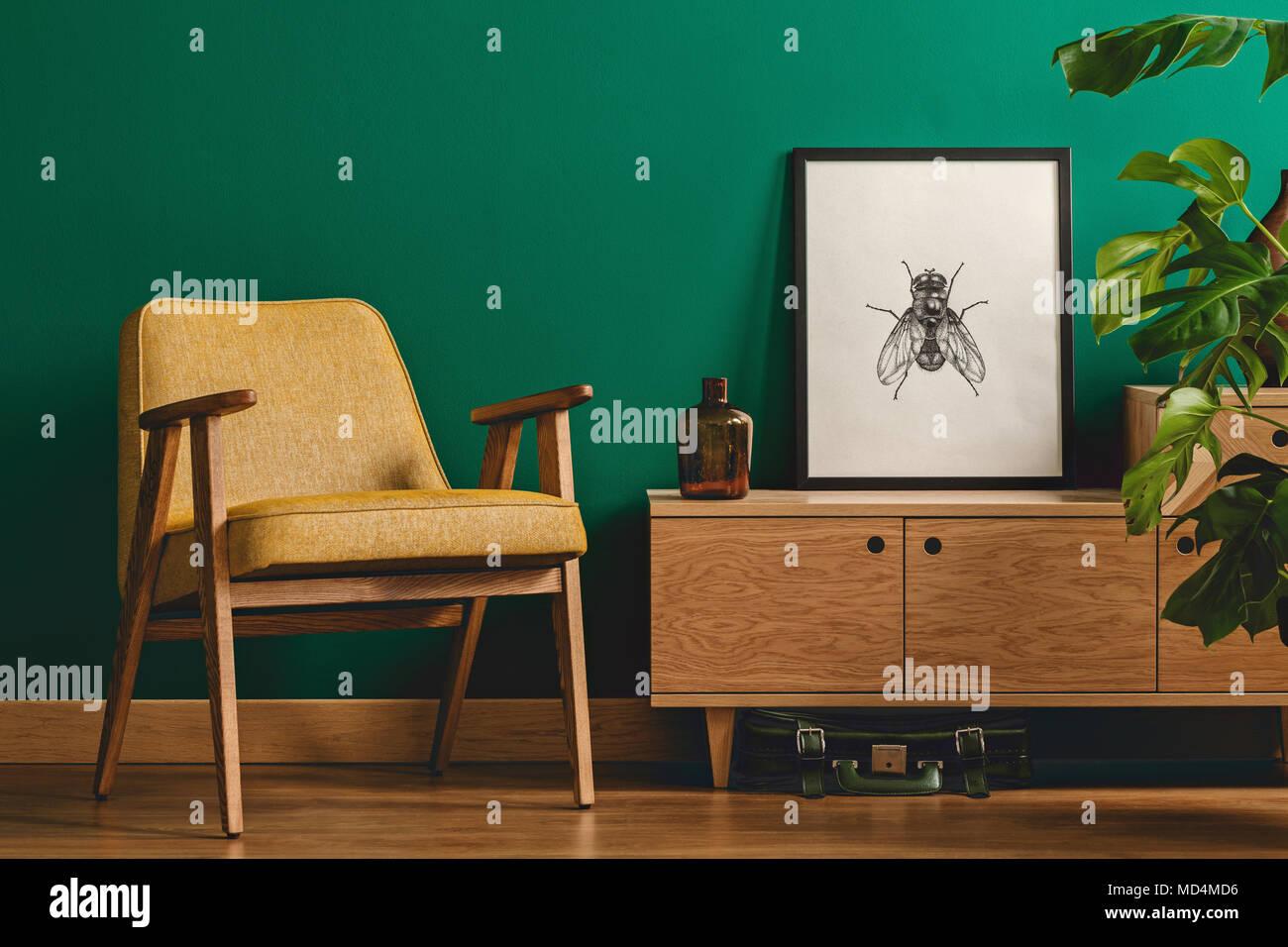 Stilvoll minimalistisch wohnzimmer einrichtung mit einem gerahmten