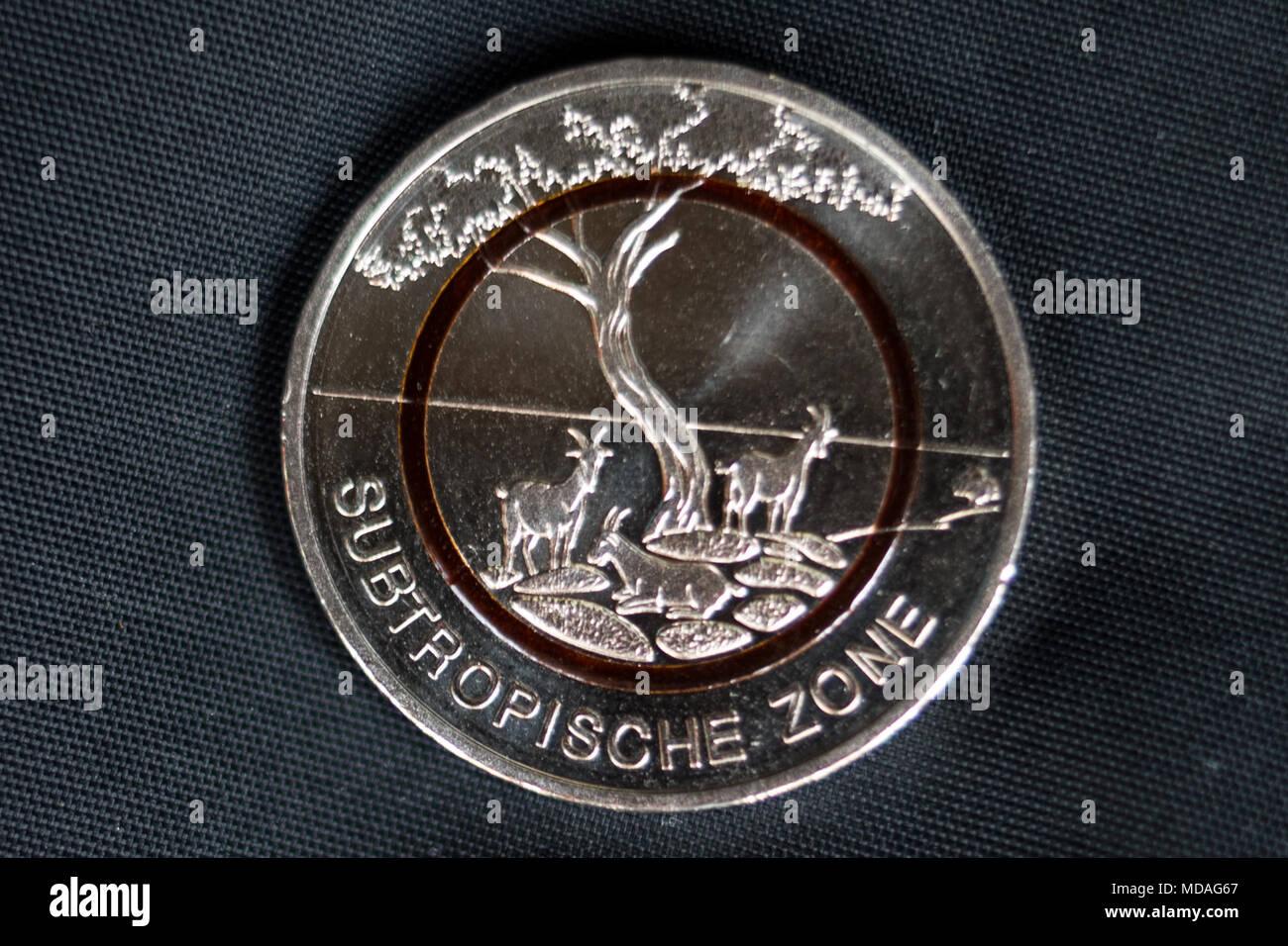 19 April 2018 Hamburg Deutschland Ein Neuer 5 Euro Sammler Münze