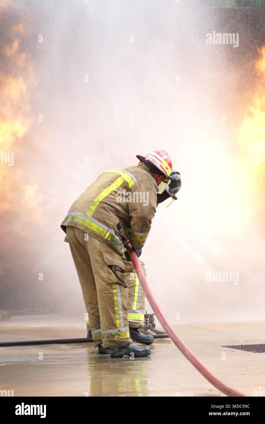 Chemische Explosion, Disaster Zone Stockbild