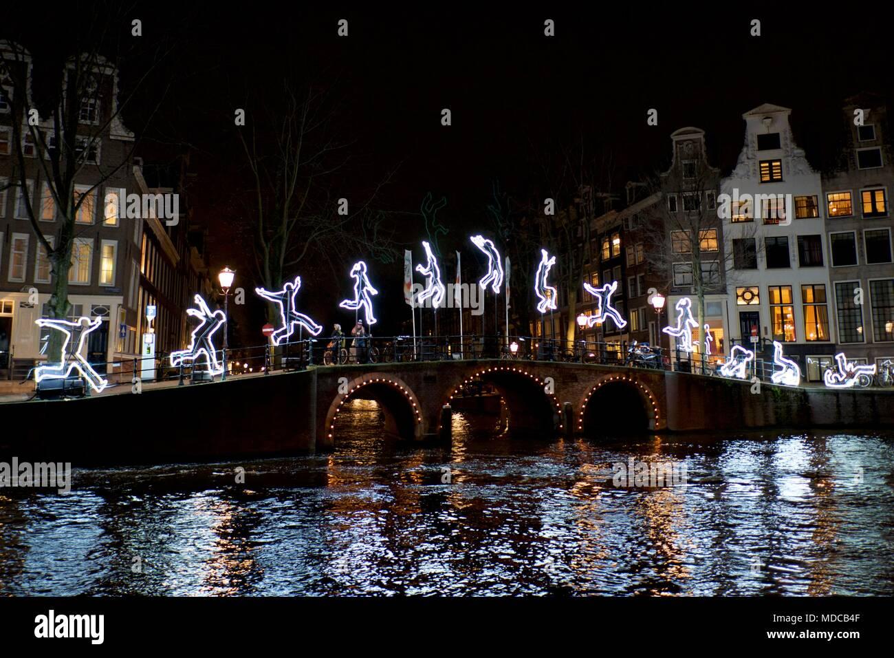 Licht Tour Amsterdam : Amsterdam licht festival anzeige stockfoto bild alamy