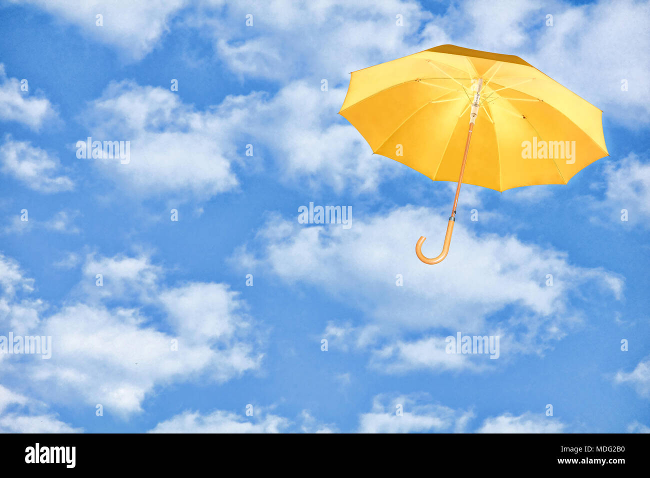 Mary Poppins Schirm Yellow Umbrella Fliegt In Den Himmel Gegen