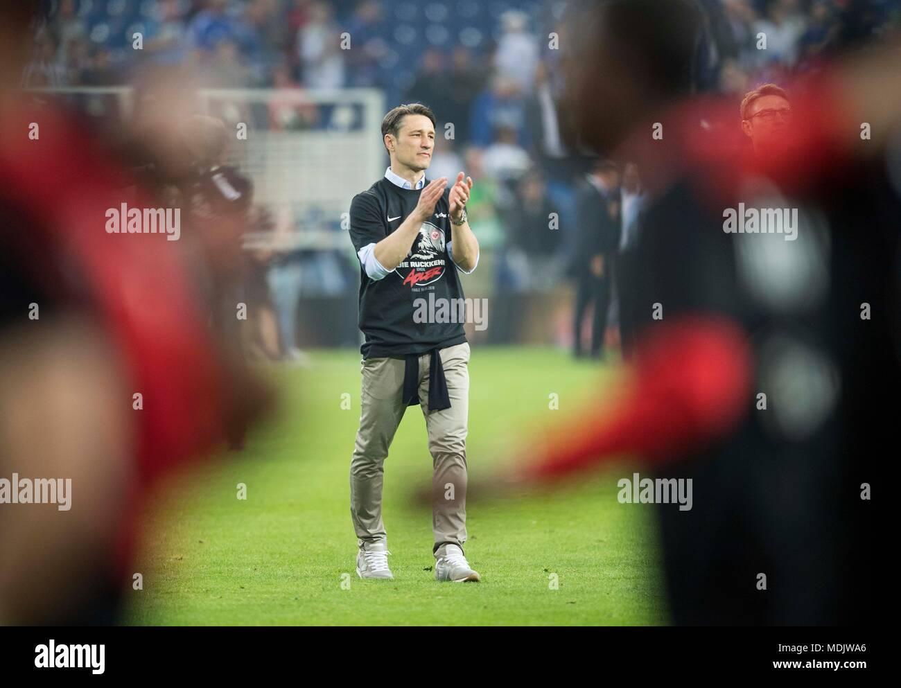 Gelsenkirchen Deutschland 18 Apr 2018 Trainer Niko Kovac