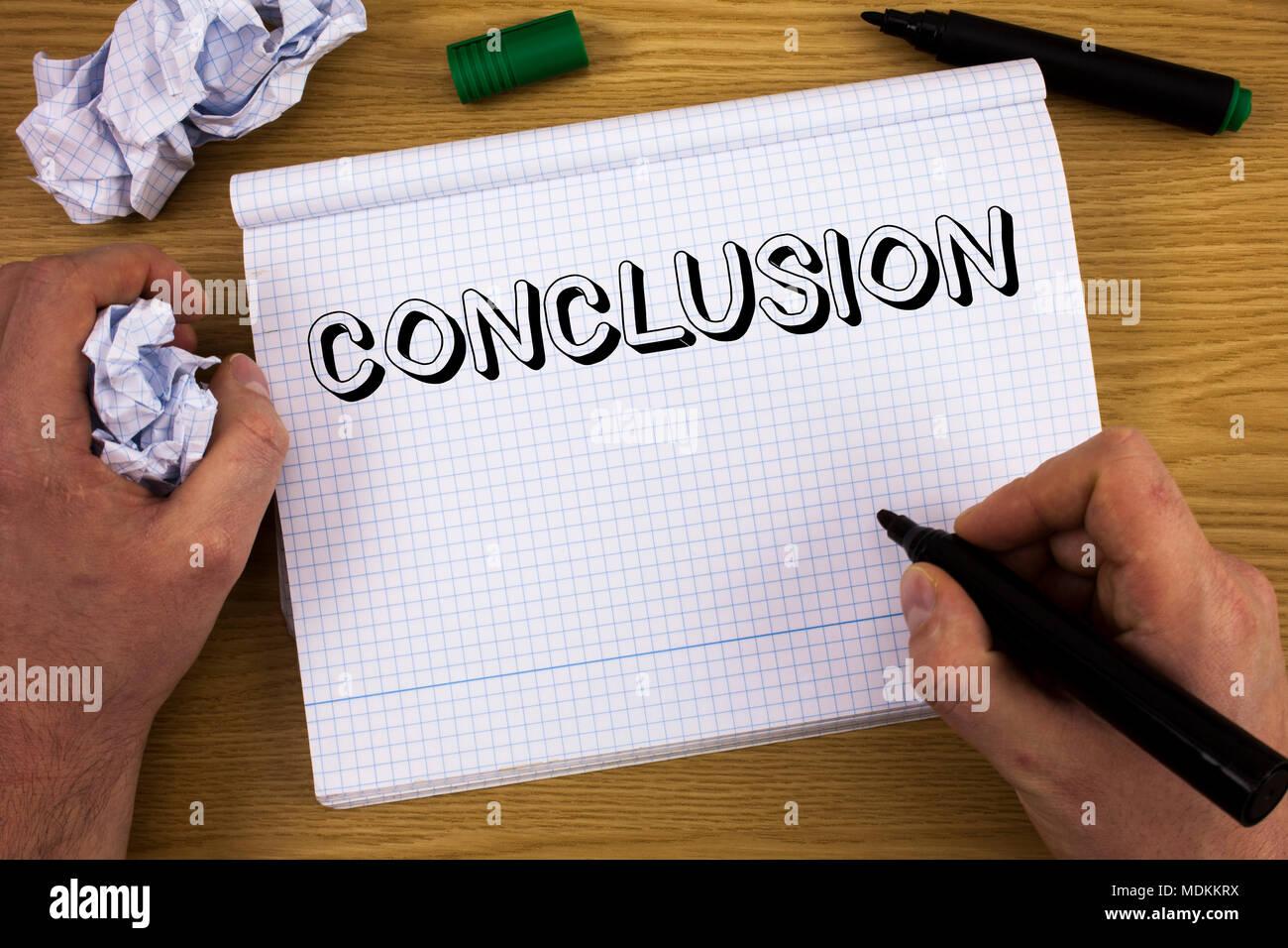 Handschrift Text Abschließend Begriff Sinne Ergebnisse Analyse
