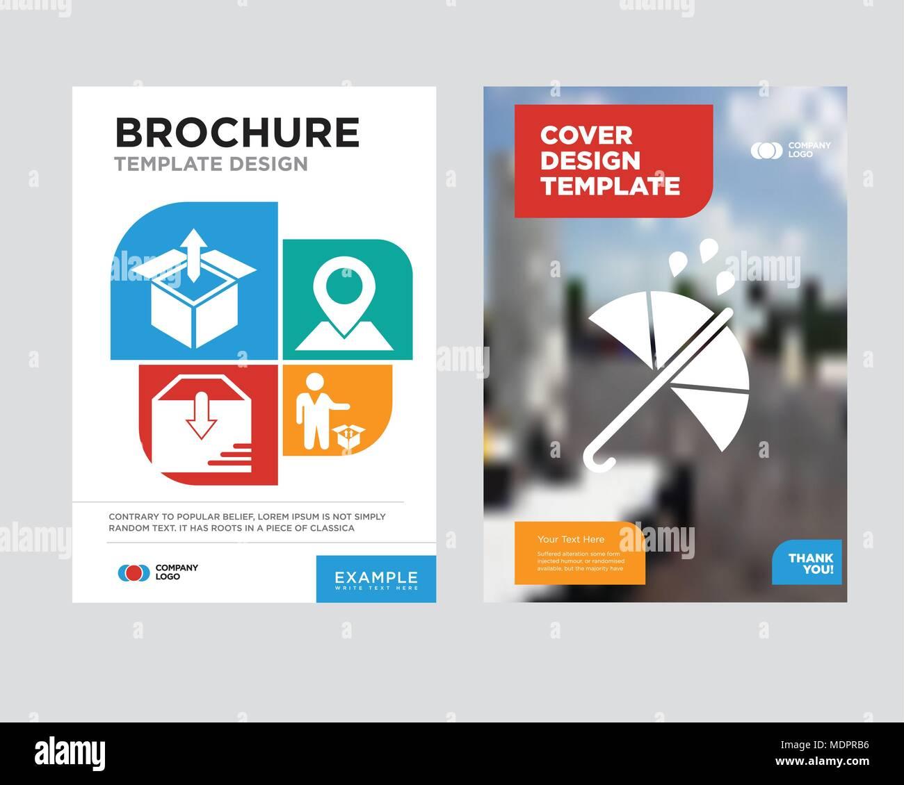 Flyer Design Vorlagen   Schutz Broschure Flyer Design Vorlage Mit Abstrakten Foto