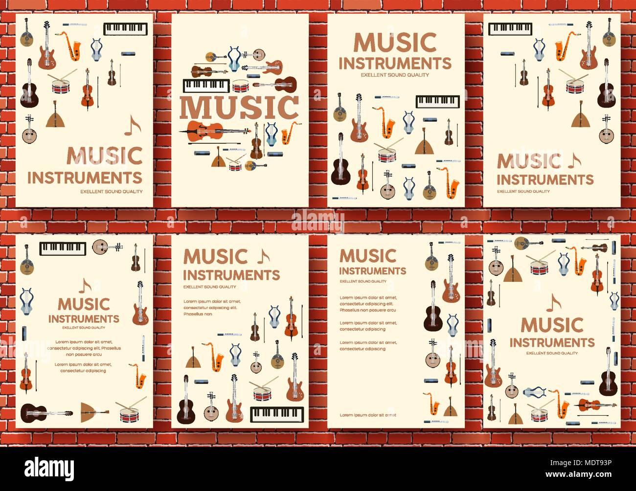 Festival Musik instrumente Kreis Infografiken Vorlage Konzept ...
