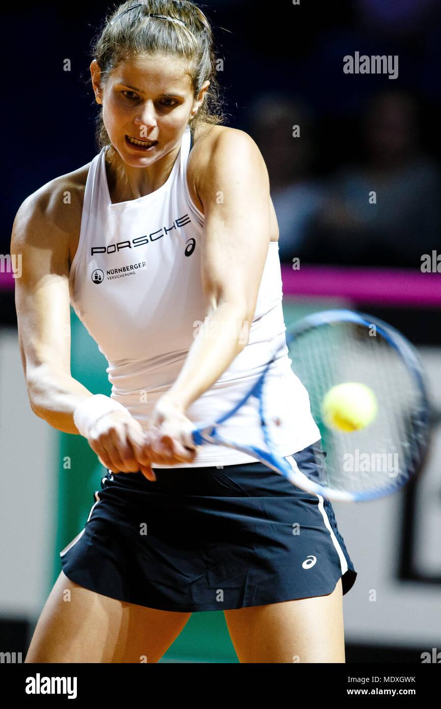 Stuttgart 21 April 2018 Deutsche Tennisspielerin Julia Goerges In