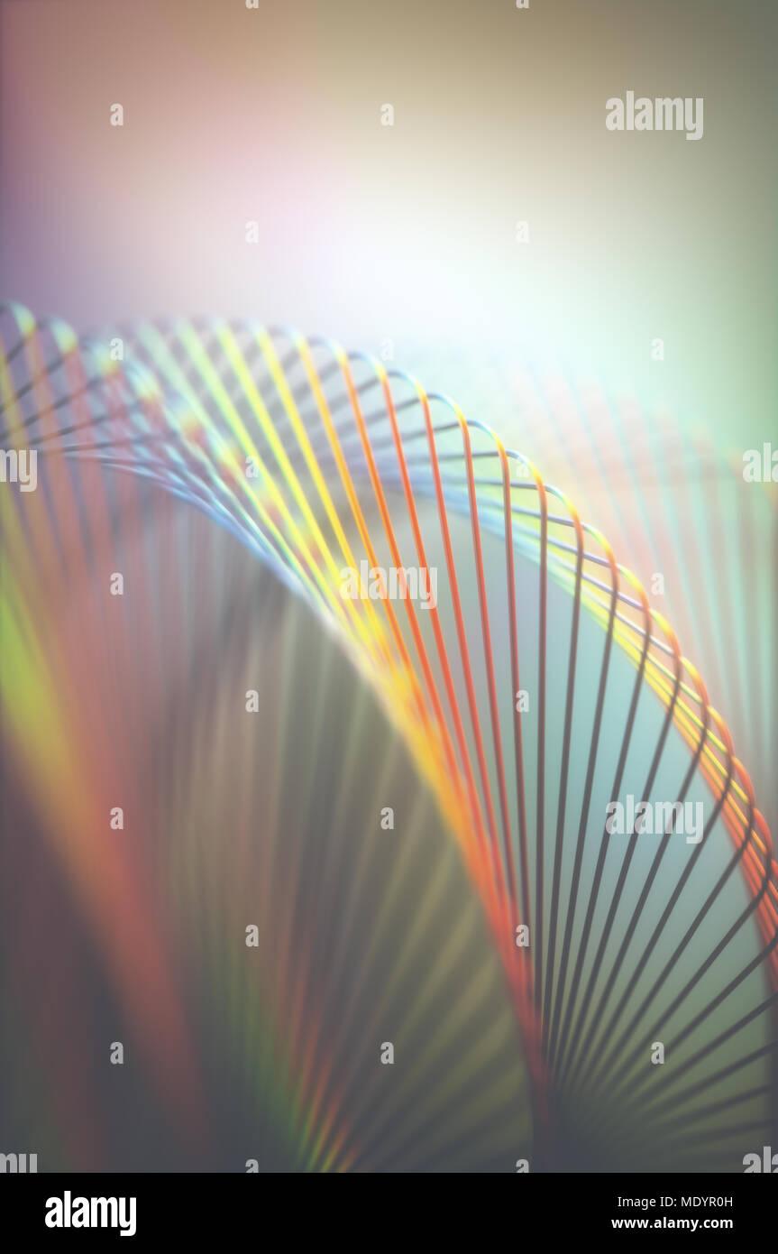 3D-Darstellung. Abstraktes Bild in künstlerischer Form und Farben für den Einsatz als Hintergrund. Stockbild