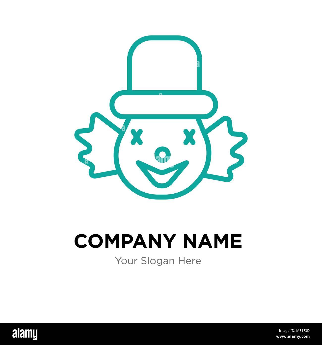 Clown Company Logo Design Template, Business corporate Vektor icon ...