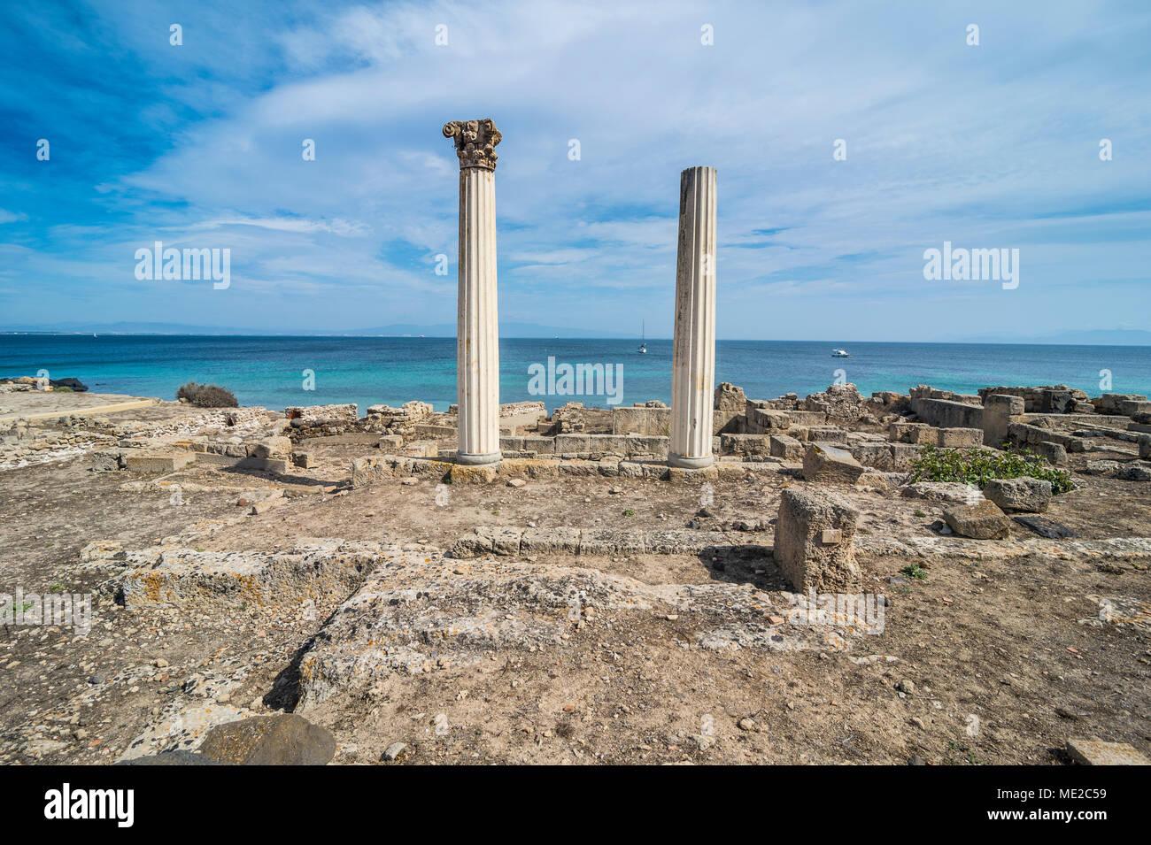 Archäologische Sehenswürdigkeit Tharros, Sardinien, Italien Stockbild