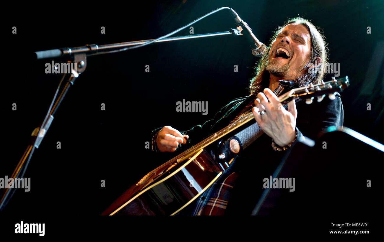 Myles Kennedy Acoustic gig, Jahr des Tigers Tour an der Islington Assembly Hall, London. 23. März 2018 Stockbild