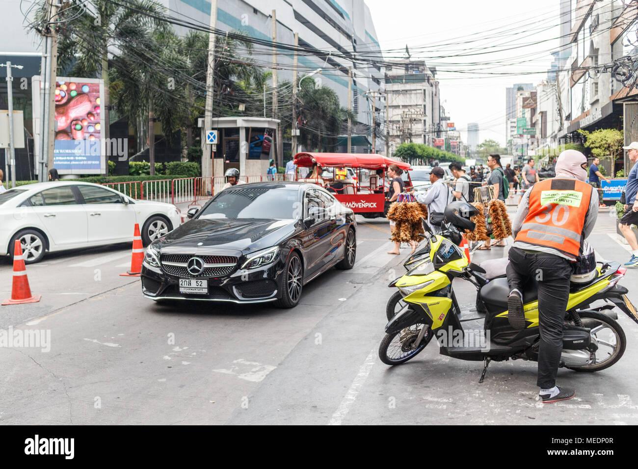 Typische Straße Aktivität, Bangkok, Thailand Stockbild