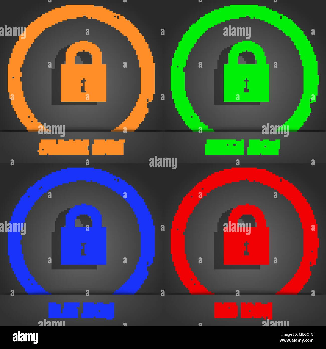Button Design Security Protection Icons Stockfotos & Button Design ...