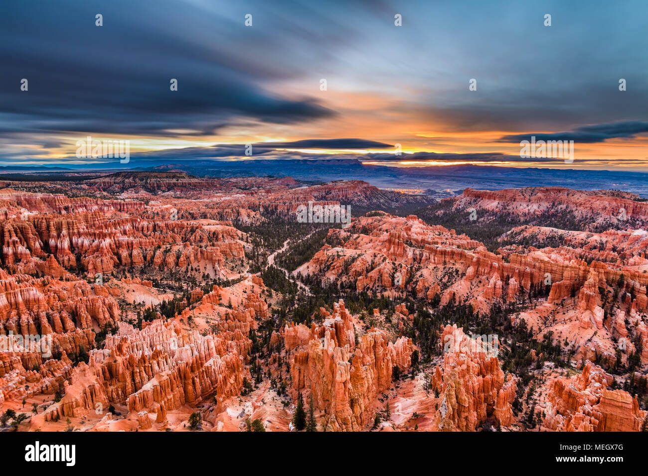 Bryce Canyon National Park, Utah, USA, in der Morgendämmerung. Stockfoto