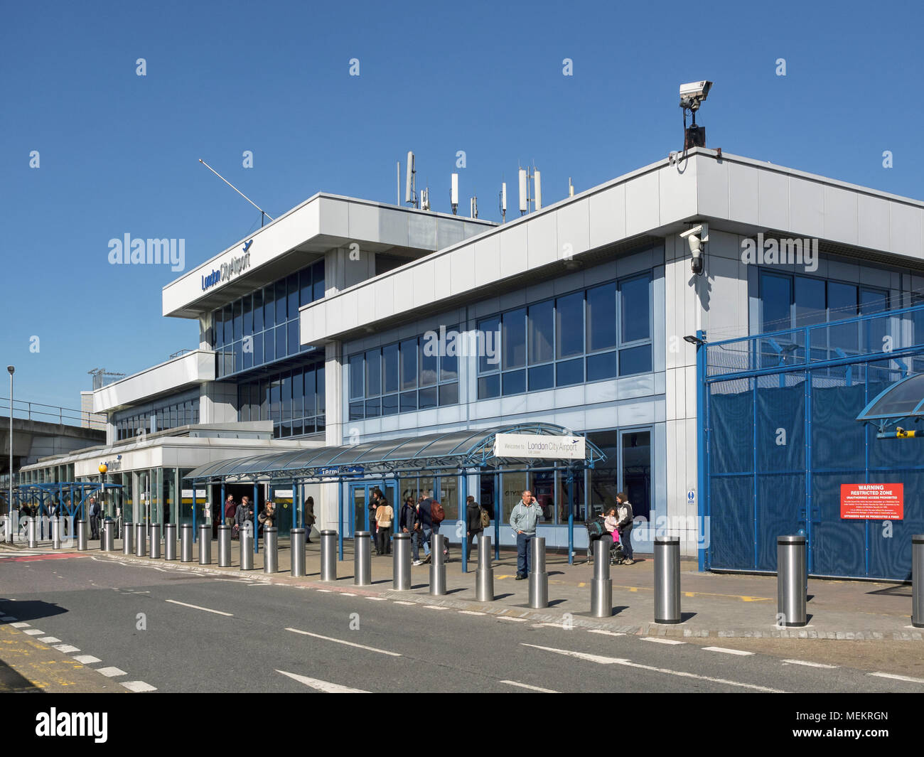London City Airport Terminal Building Stockfoto Bild