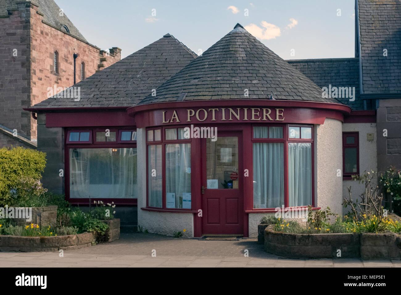 La Potiniere Restaurant, Gullane, East Lothian, Schottland Stockbild