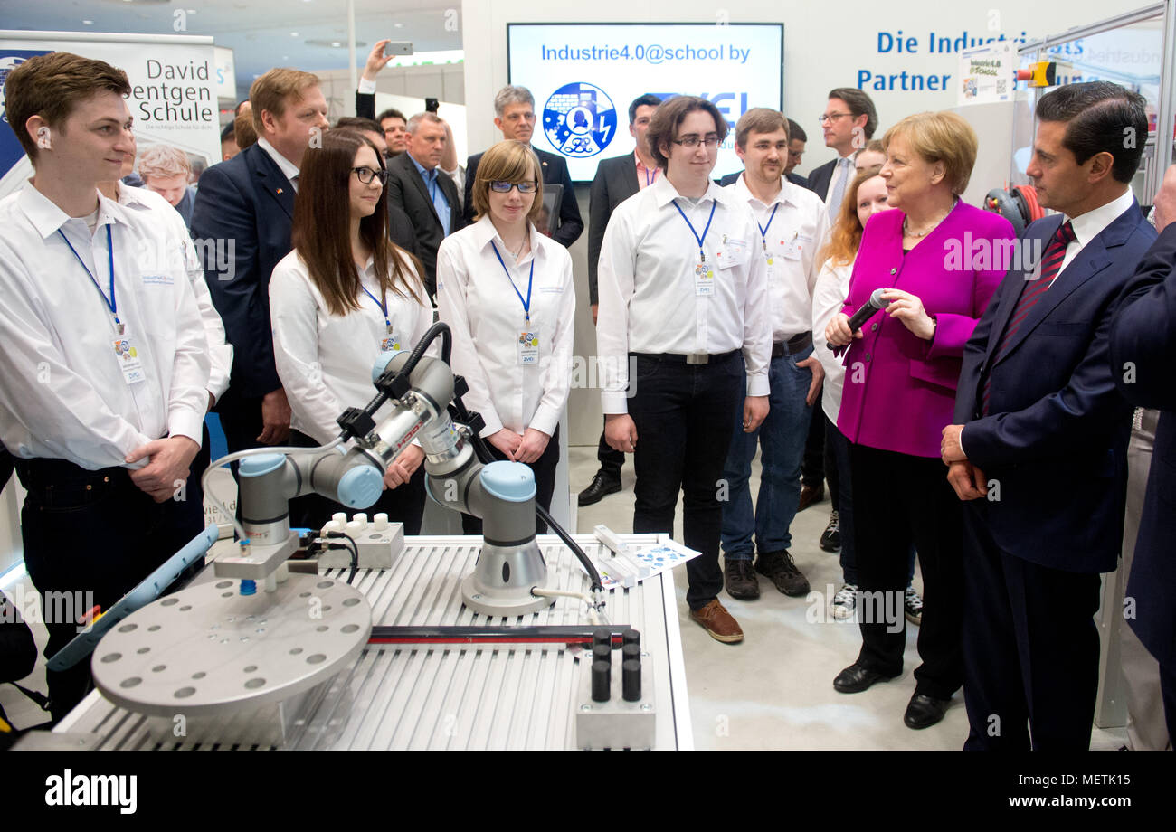 Hannover Deutschland 23 April 2018 Studenten Der David Roentgen