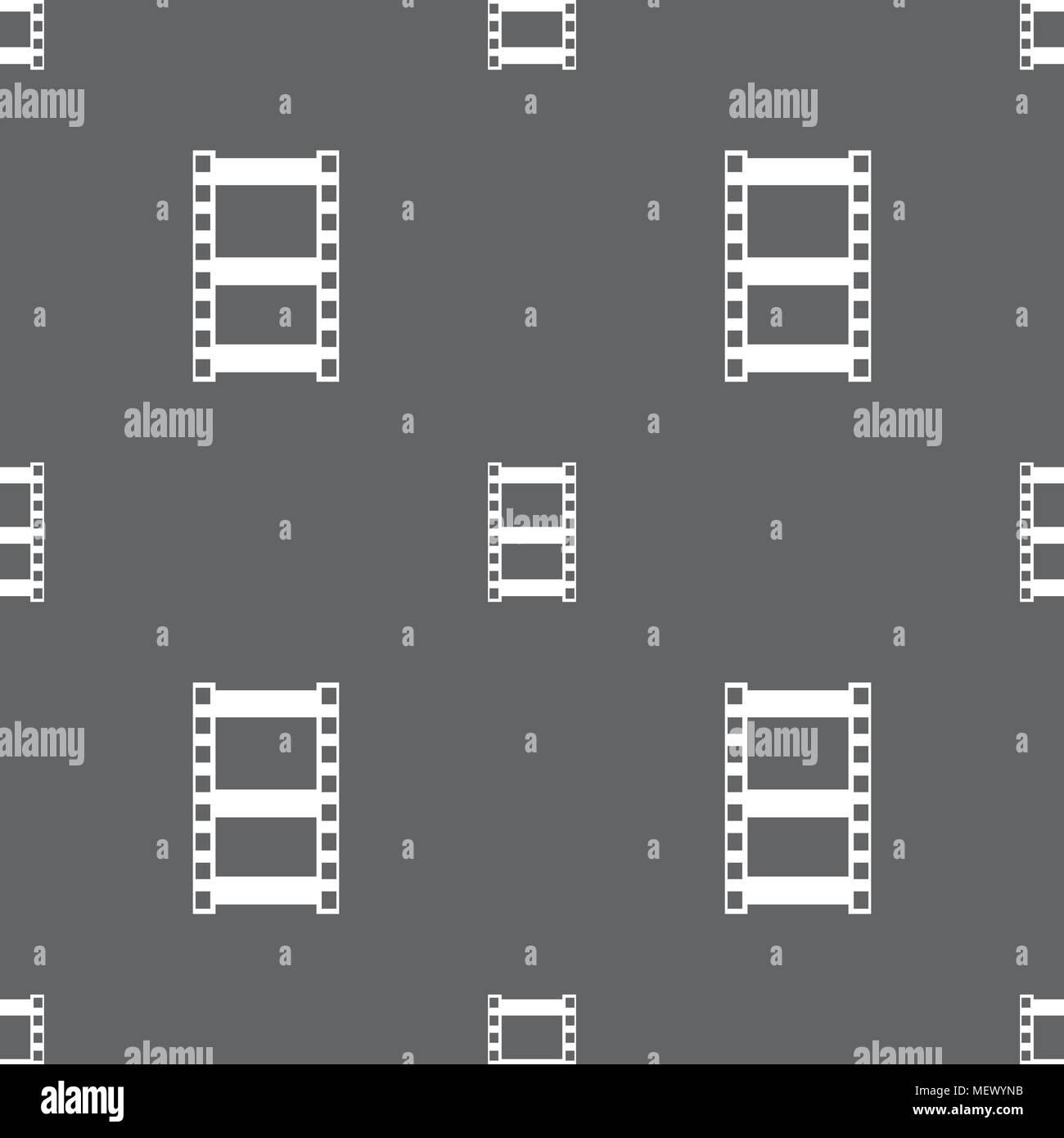 Video zeichen Symbol. Video Frame Symbol. Nahtlose Muster auf einem ...