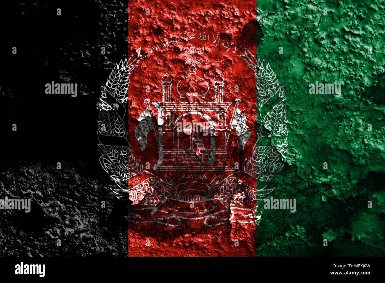 Alte Afghanistan Grunge Hintergrund Flagge Stockfoto Bild