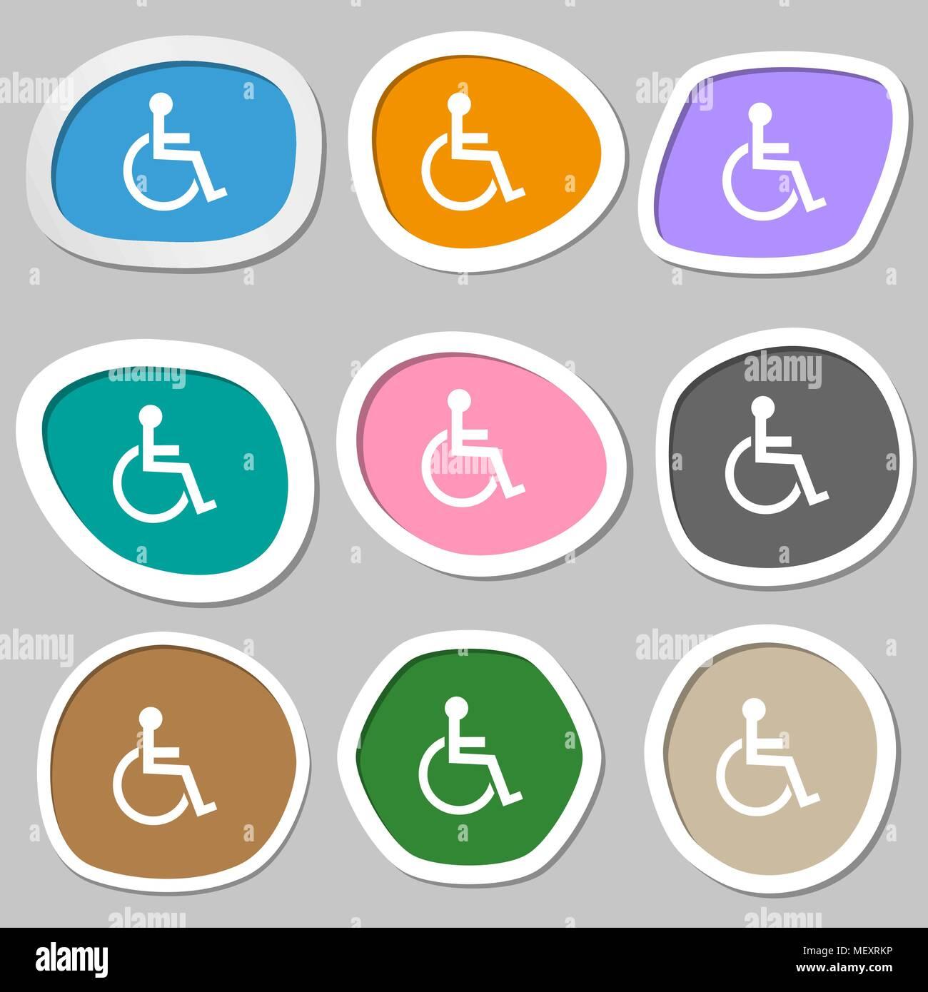 Deaktiviert Zeichen Symbol Menschen Auf Der Rollstuhl