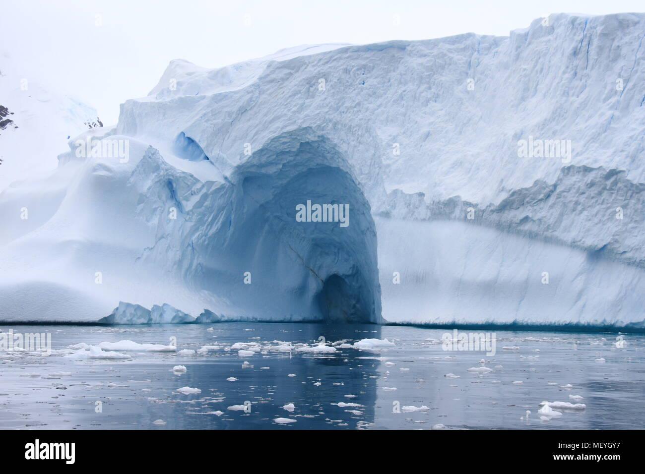 Eis der Antarktis Stockbild