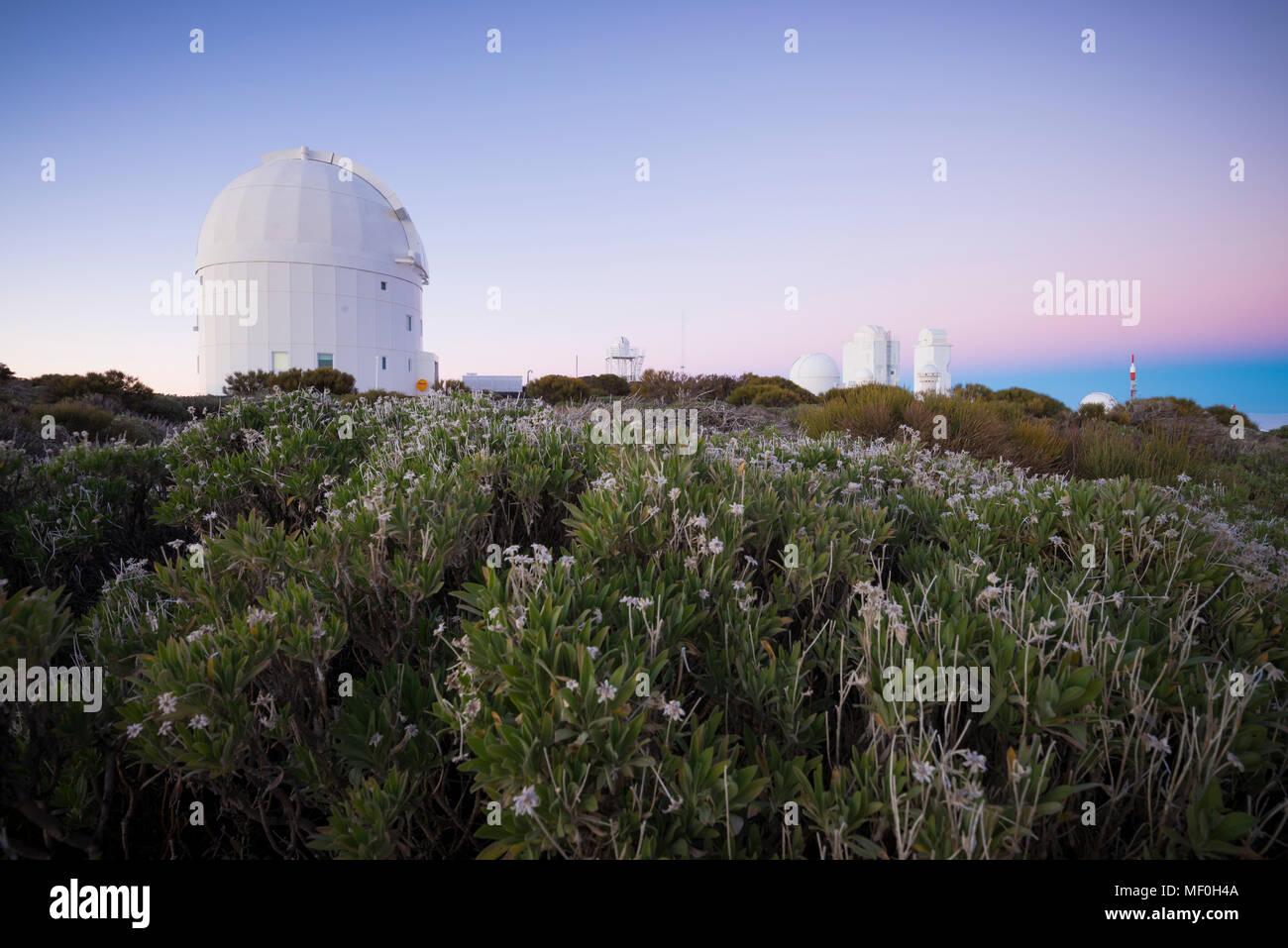 Spanien, Kanarische Inseln, Teneriffa, Teide Observatorium Stockbild