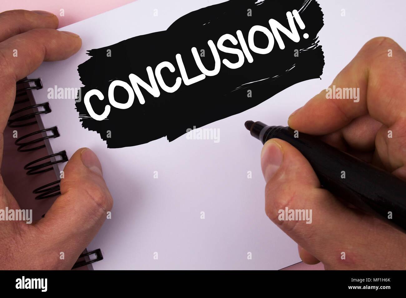 Konzeptionelle Hand Schreiben übersicht Fazit Motivation Nennen