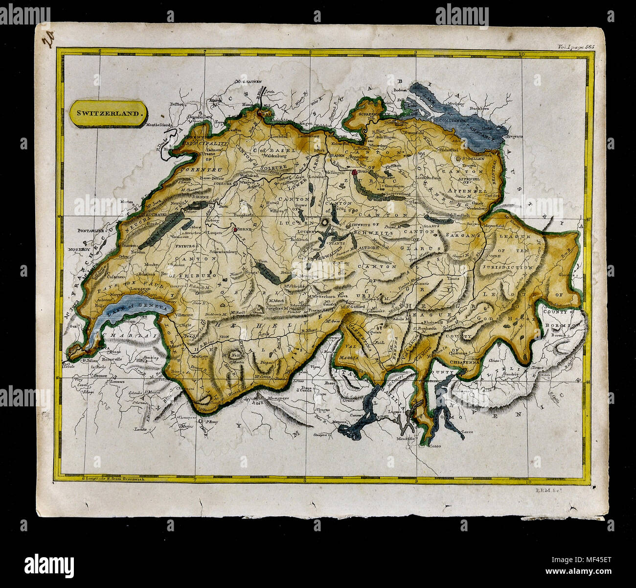 Bodensee Karte Schweiz.1804 Arrowsmith Karte Schweiz Genf Bern Luzern Zurich
