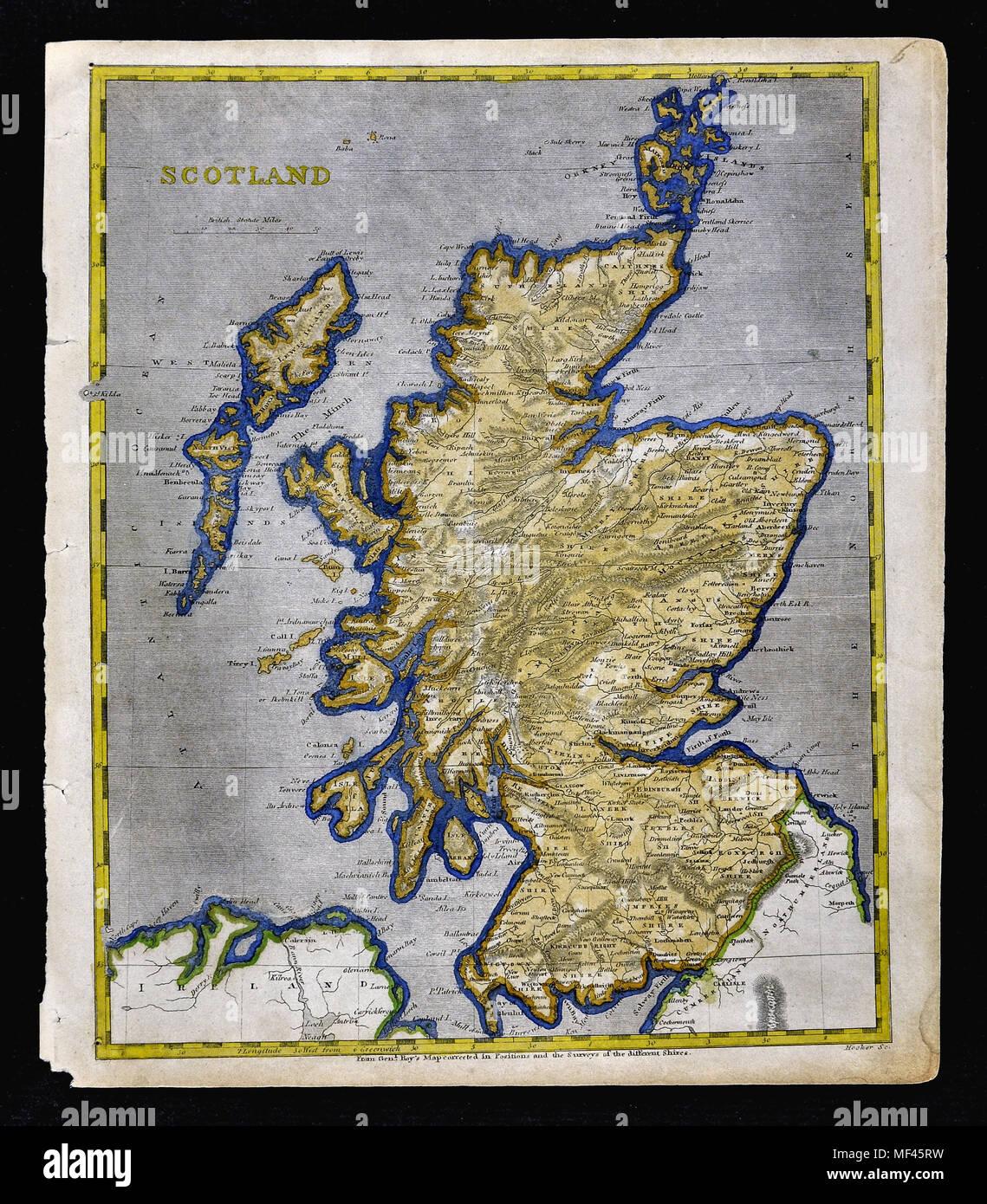Loch Ness Karte.1804 Arrowsmith Karte Schottland Edinburgh Glasgow Loch Ness