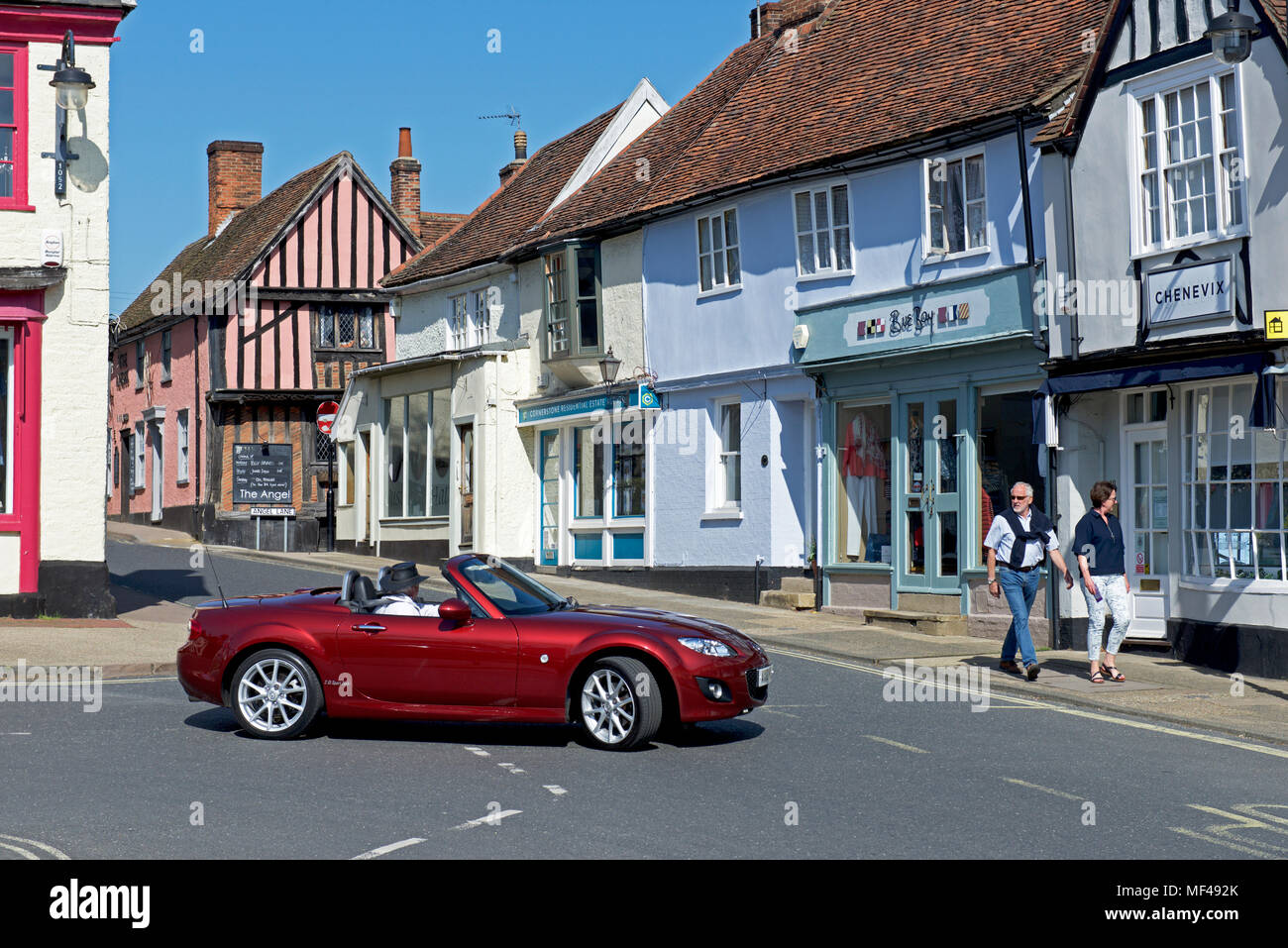 Sport Auto in Woodbridge, Suffolk, England Großbritannien Stockbild