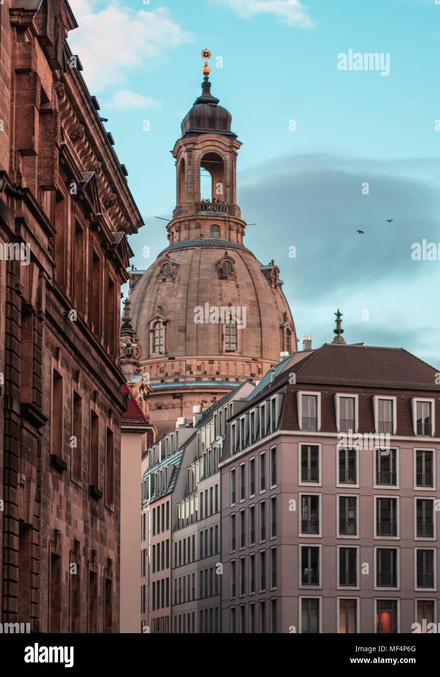 Frauenkirche, Dresden (Deutschland) Stockbild