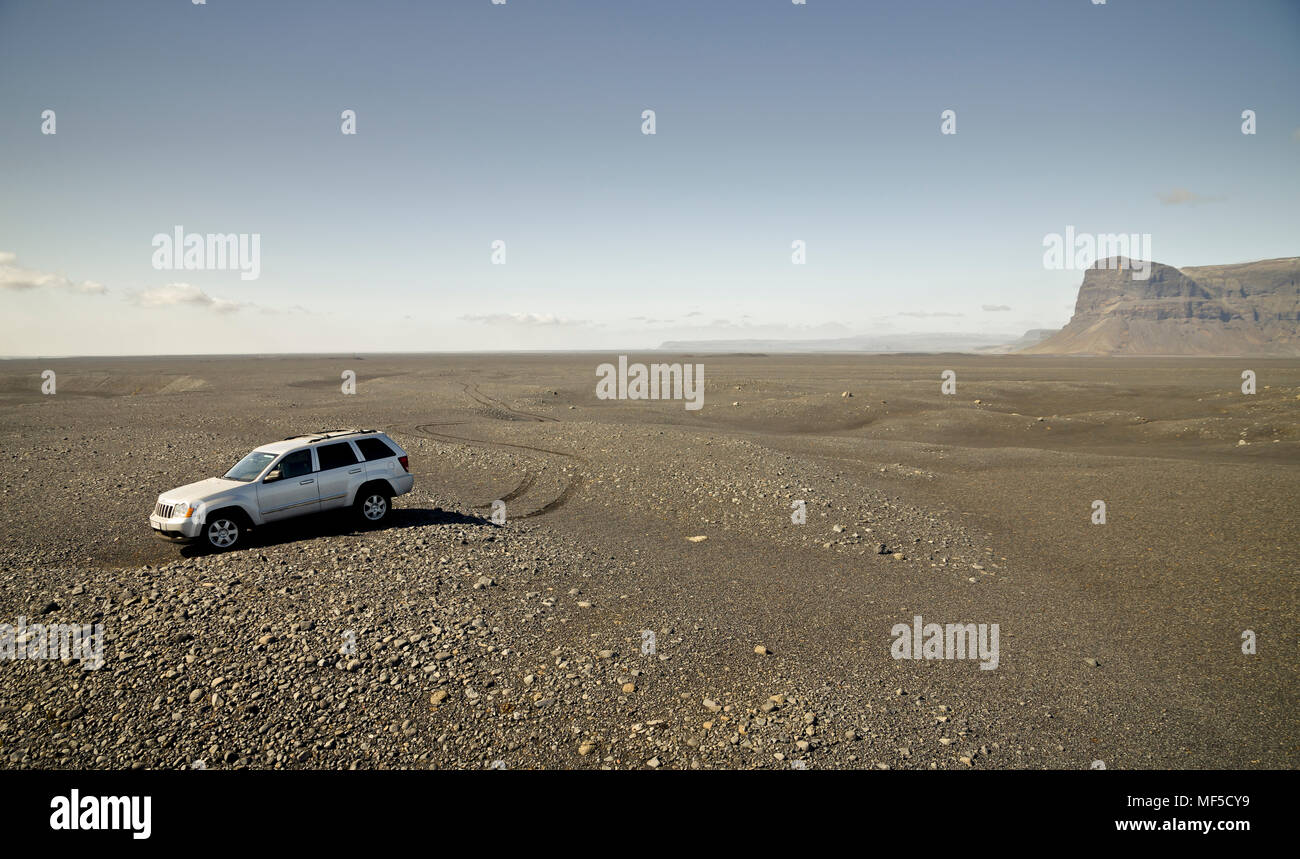 Island, Off-Road-Fahrzeug Stockbild