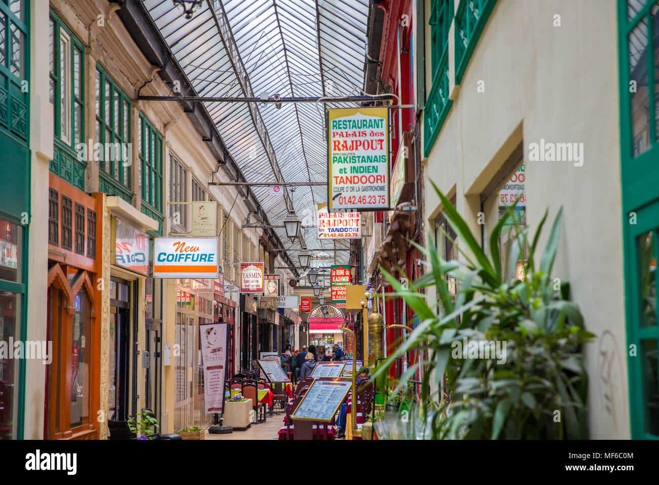 Passage Brady, Paris Stockbild