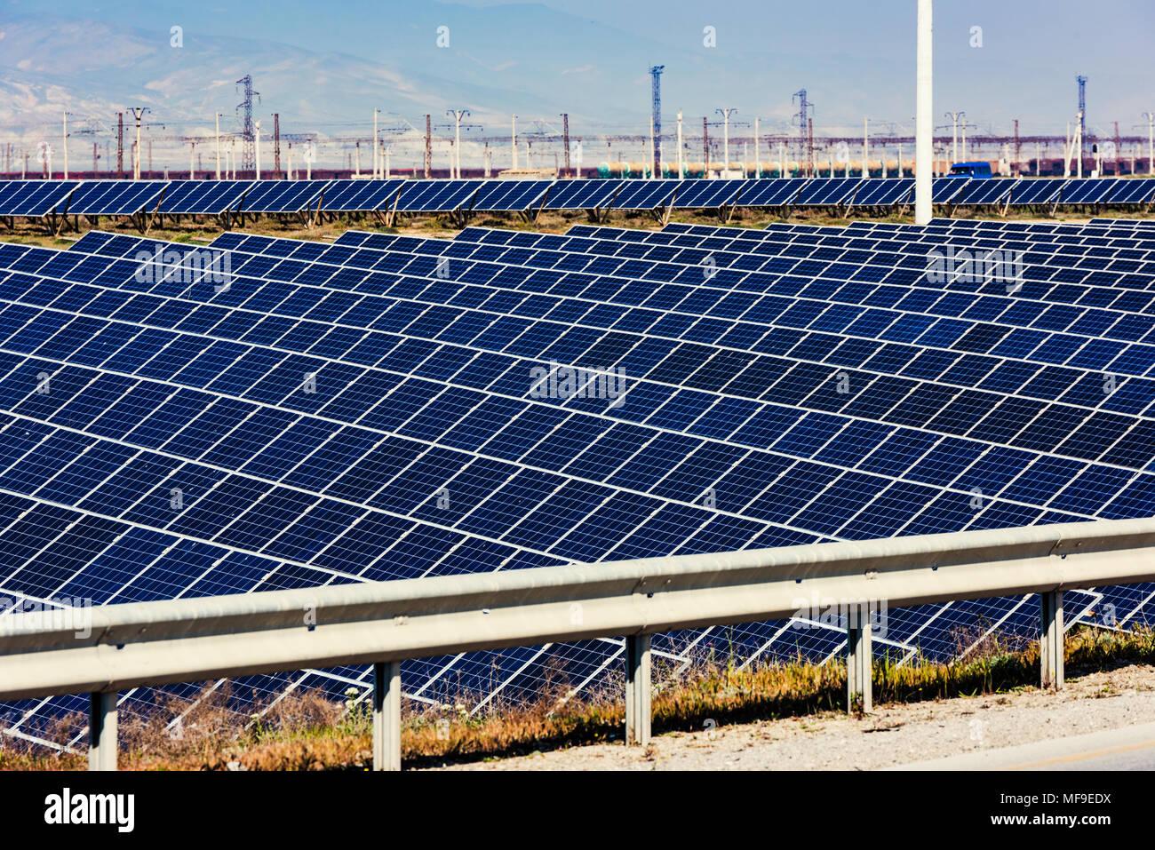 Solar Energy Station, alternative Stromquelle Stockbild