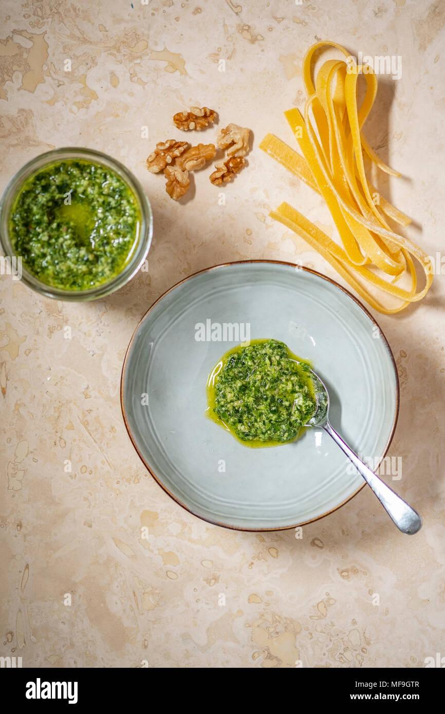 Mint Pesto Stockbild