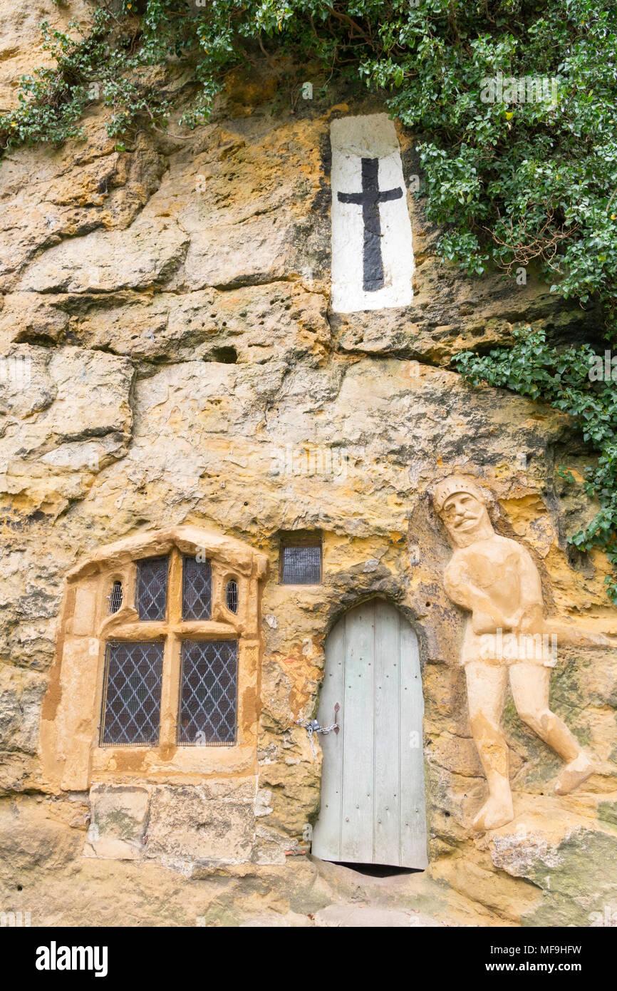 Die Kapelle Unserer Lieben Frau von der Felsspitze, Knaresborough, North Yorkshire, England, UK. Stockbild