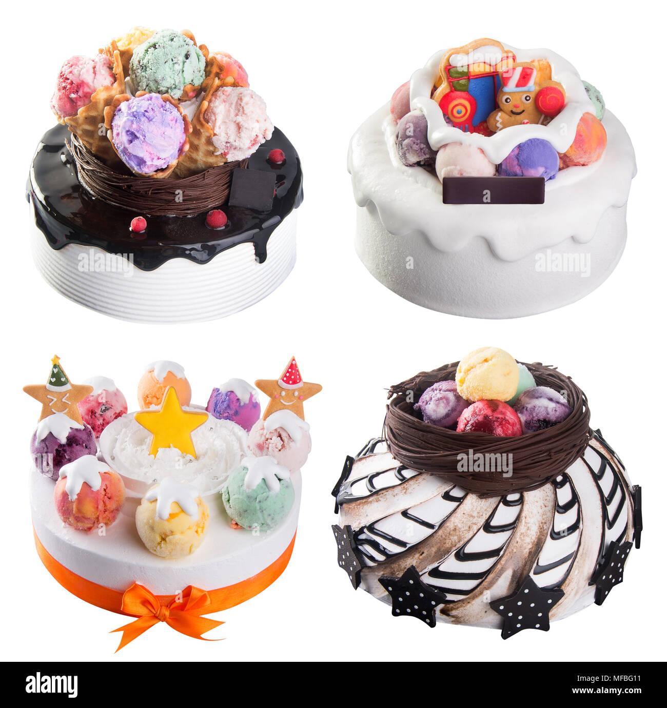 Kuchen Eis Kuchen Sammlung Fur Den Hintergrund Stockfoto Bild