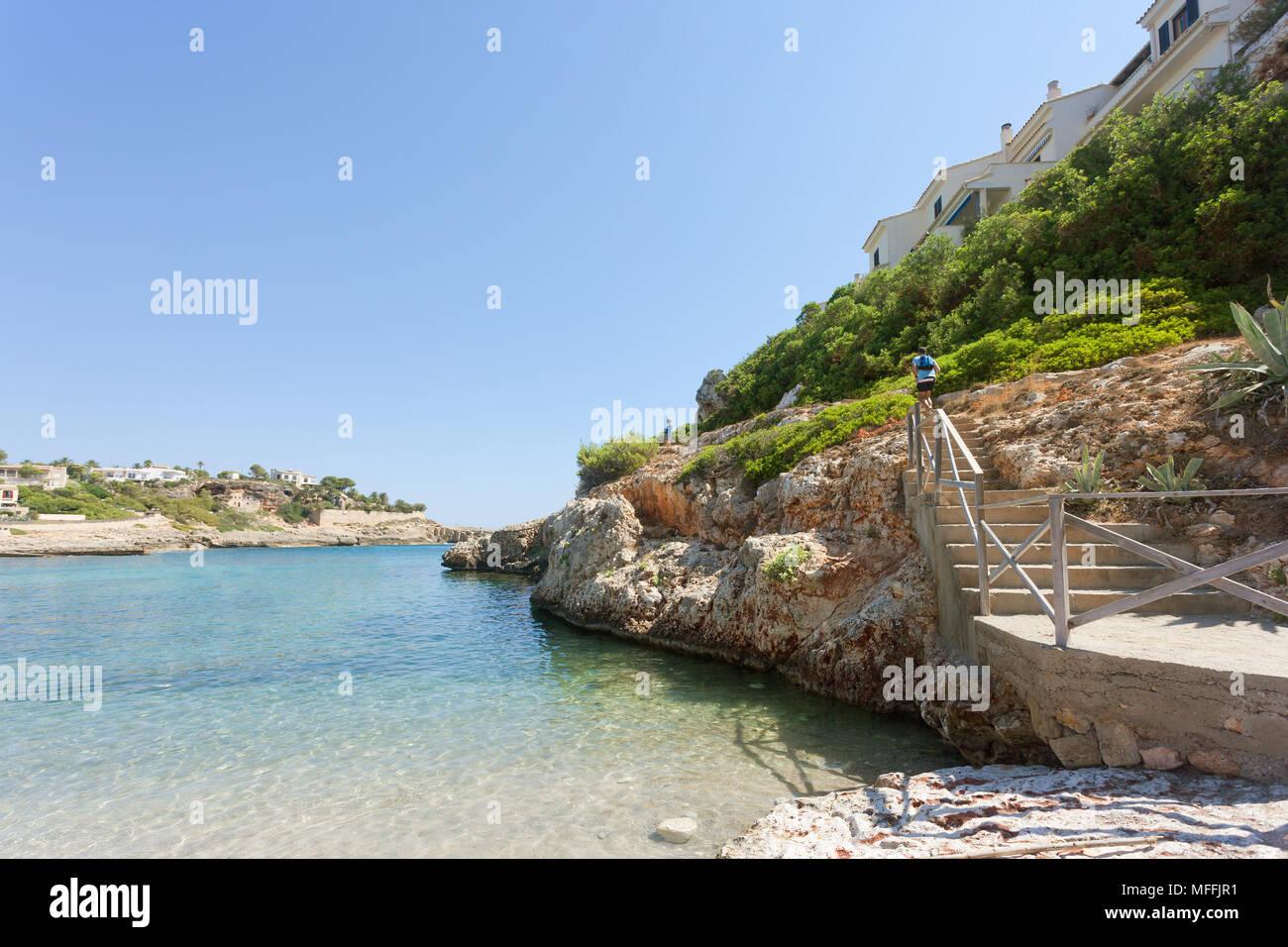 Cala Murada, Mallorca, Spanien - ein schöner Wanderweg an der Küste von Cala Murada Stockfoto