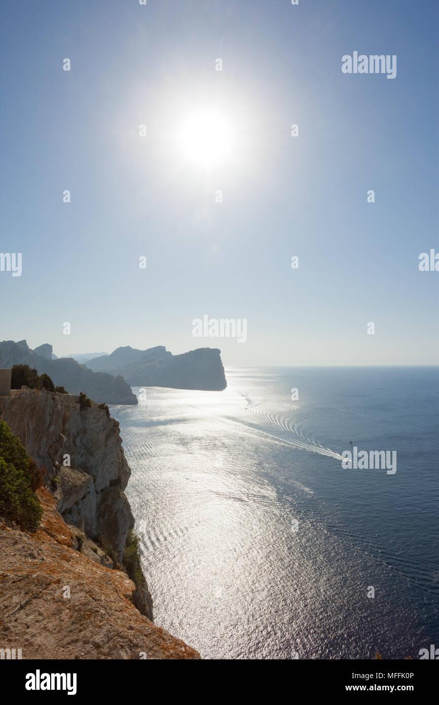 Cap de Formentor, Mallorca, Spanien - die Natur und die schöne Landschaft von Formentor beeindruckt Stockfoto